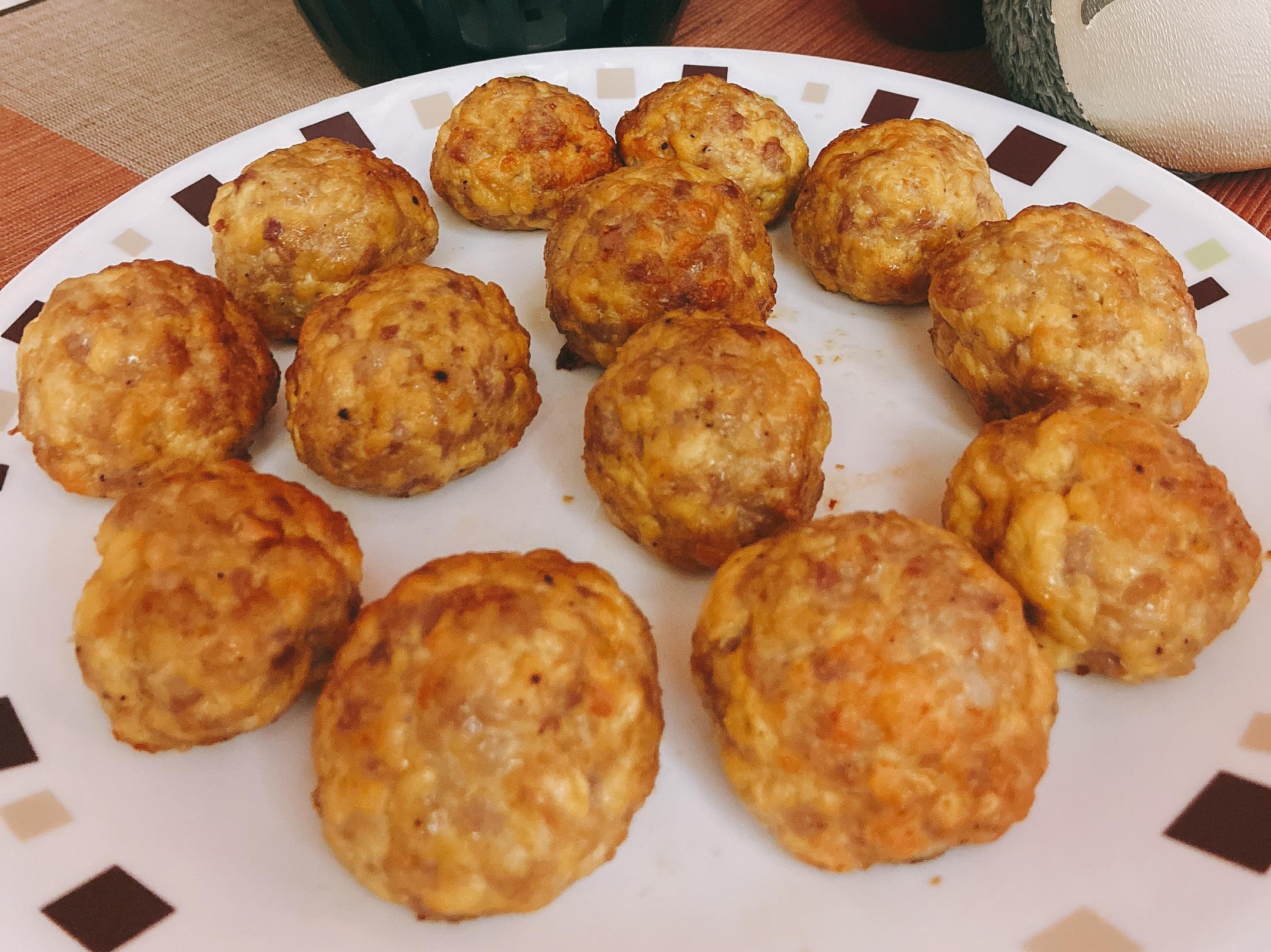 豆腐肉肉丸(煎、烤、氣炸均可)低卡飲食