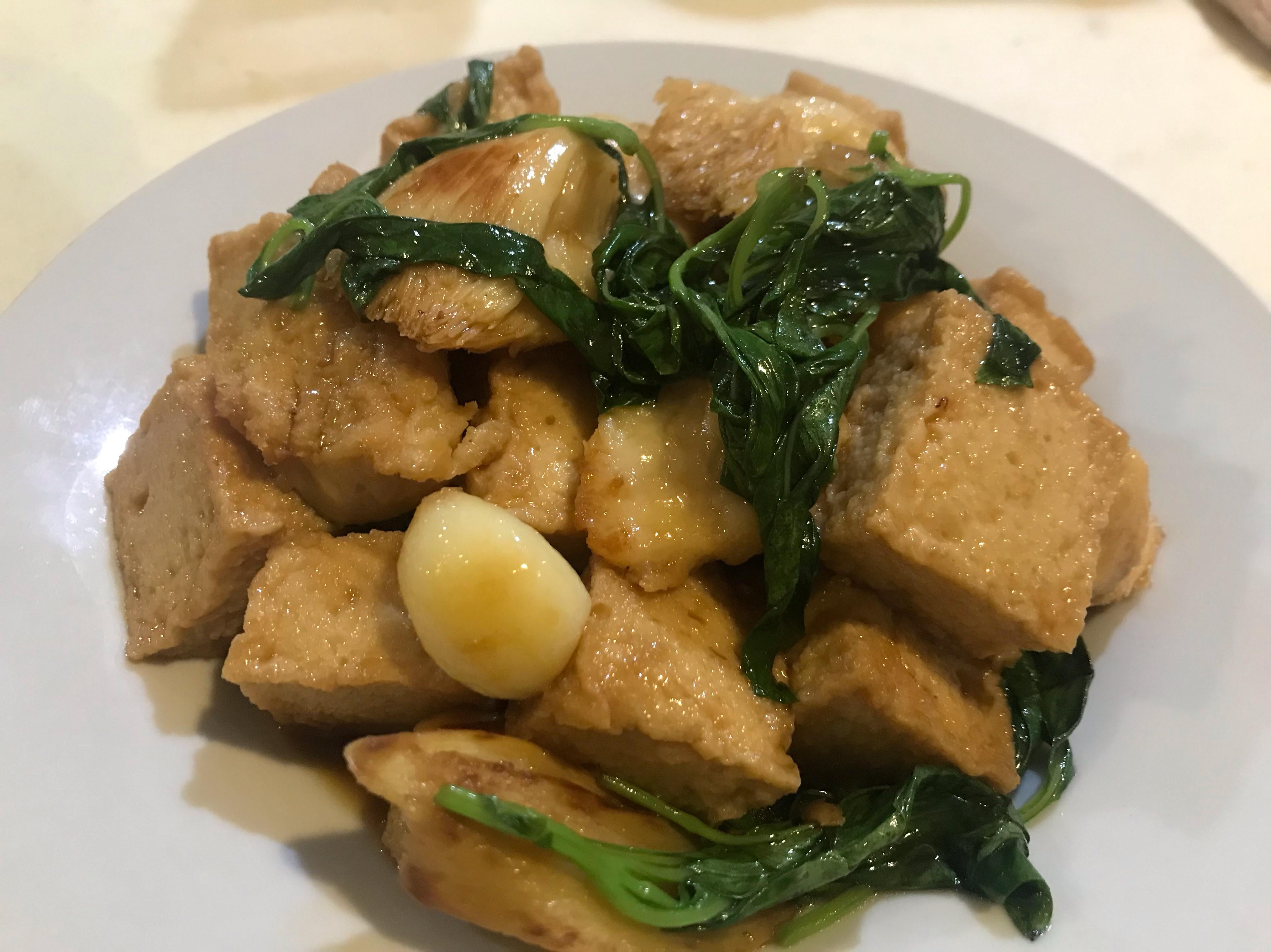 塔香魚豆腐猴頭菇
