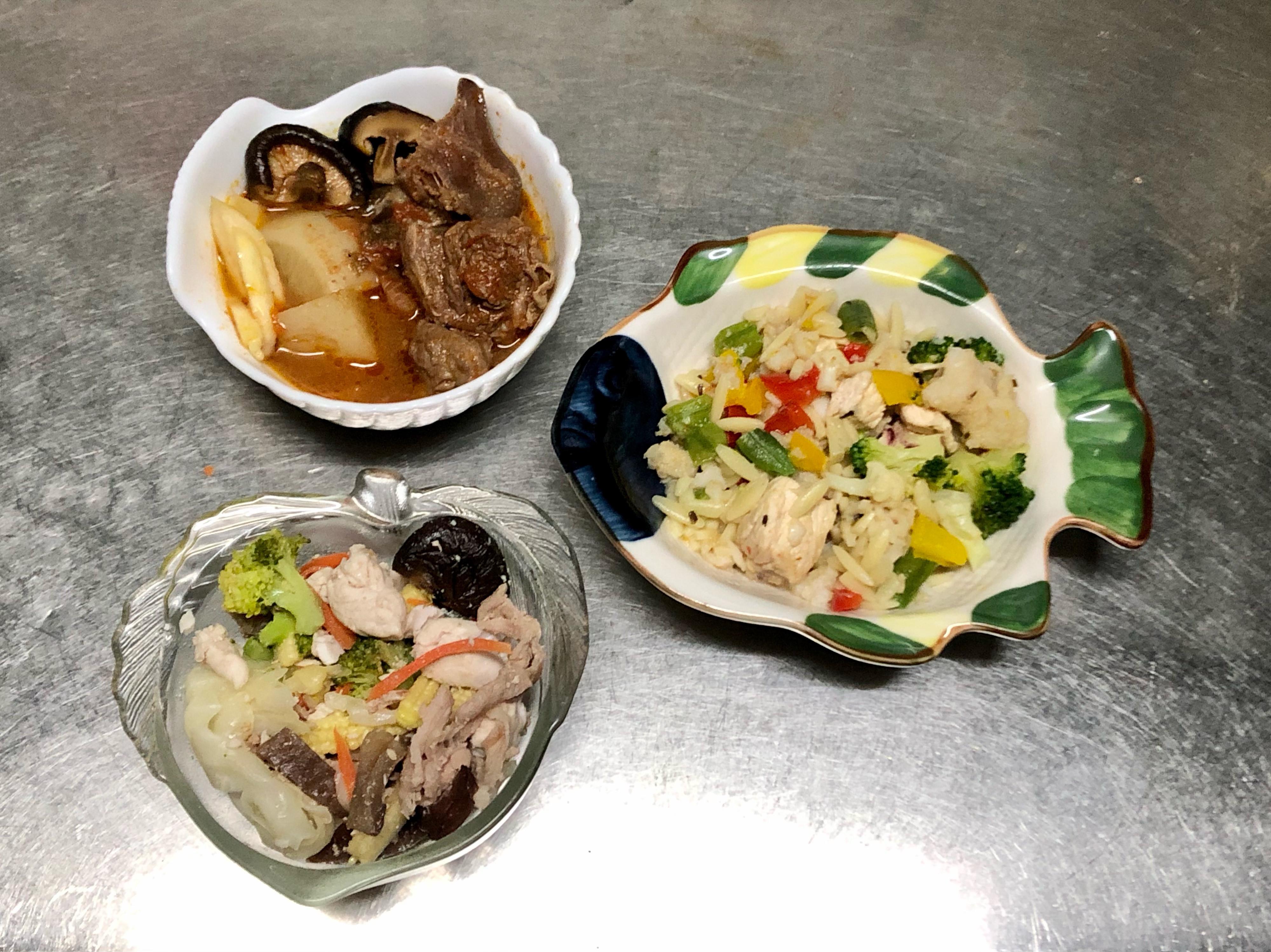 鮮食🐾燉牛肉 蔬菜炒肉 豆漿義大利麵