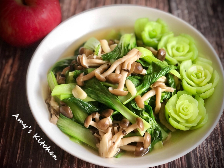 青江菜炒鮮菇