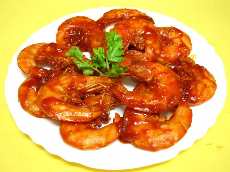茄汁乾燒蝦