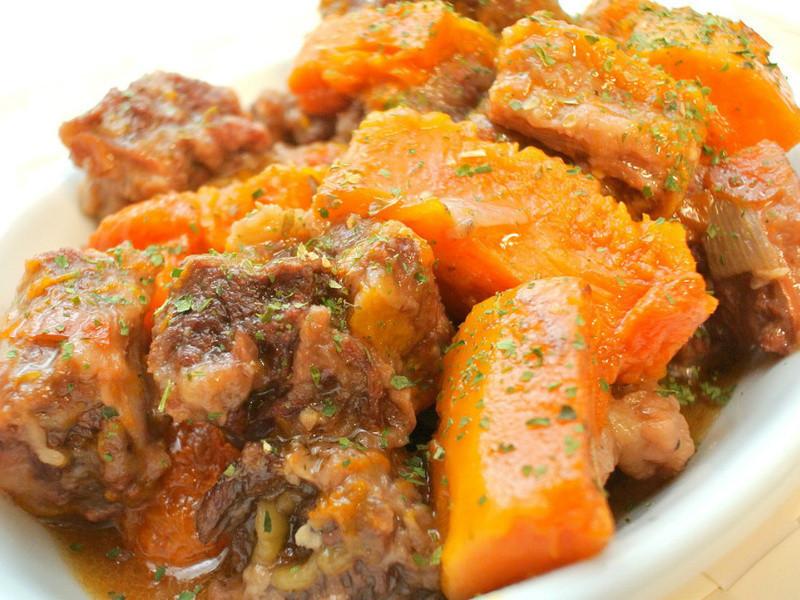 南瓜油漬番茄燉牛肉