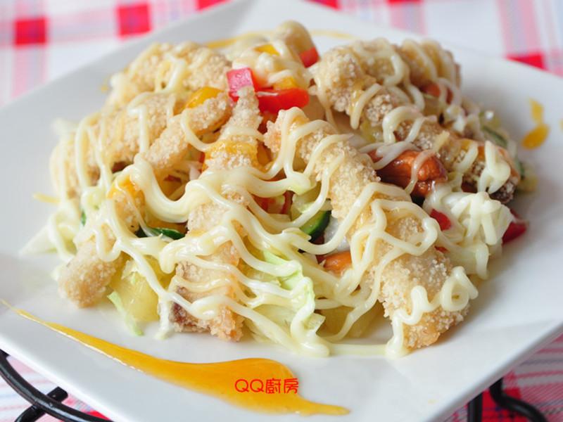 果香風味魚片沙拉