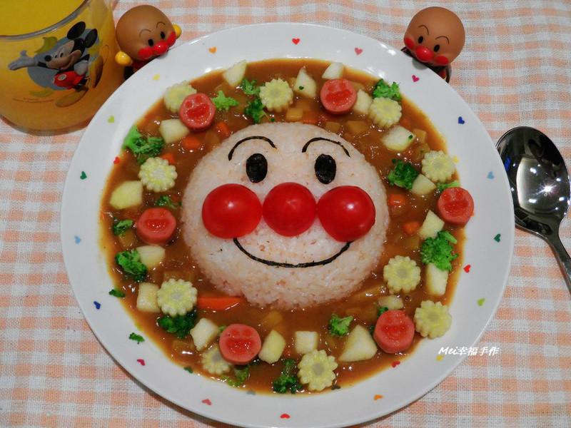 【親子食堂】麵包超人造型咖哩飯飯