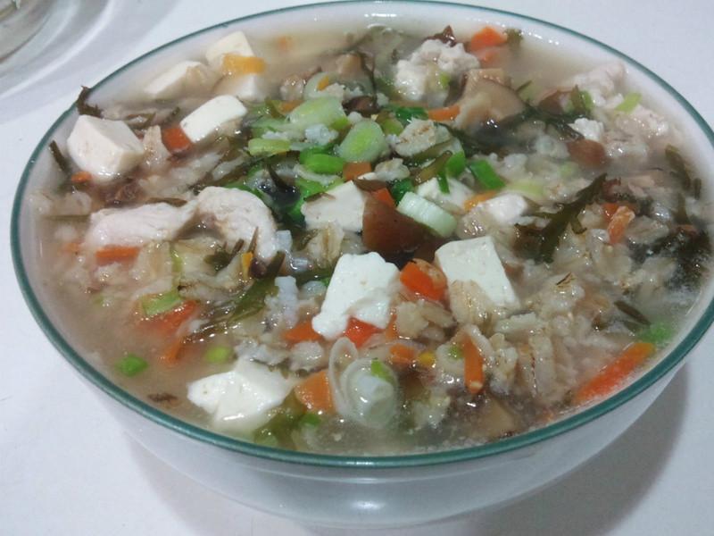雞絲海帶燕麥粥*有飽足感的健康減肥餐*