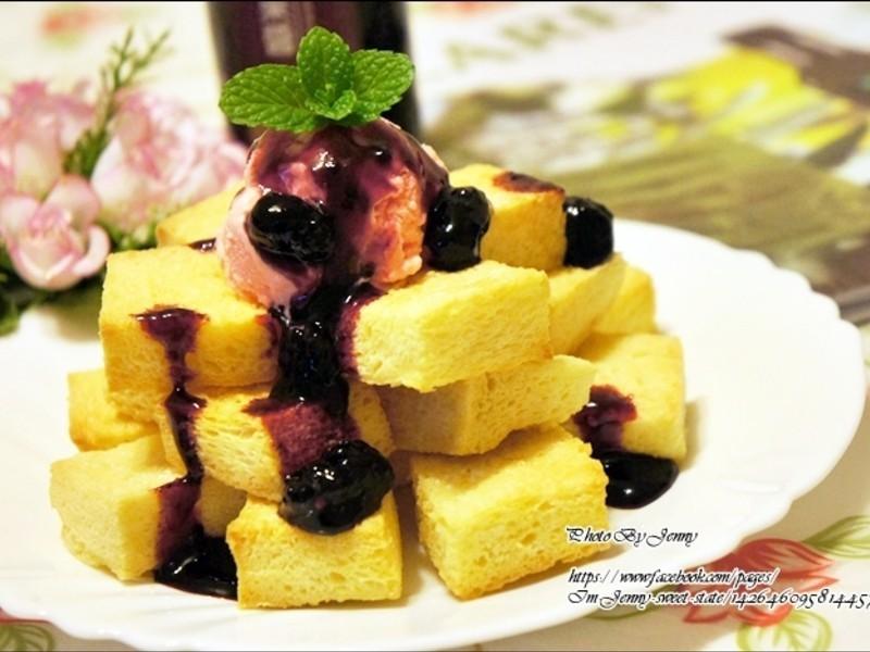 桑椹草莓冰淇淋蜜糖金磚