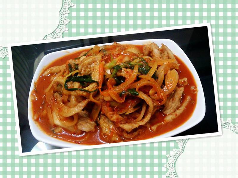 韓式辣炒松阪肉