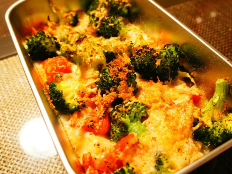 焗烤三色蔬食