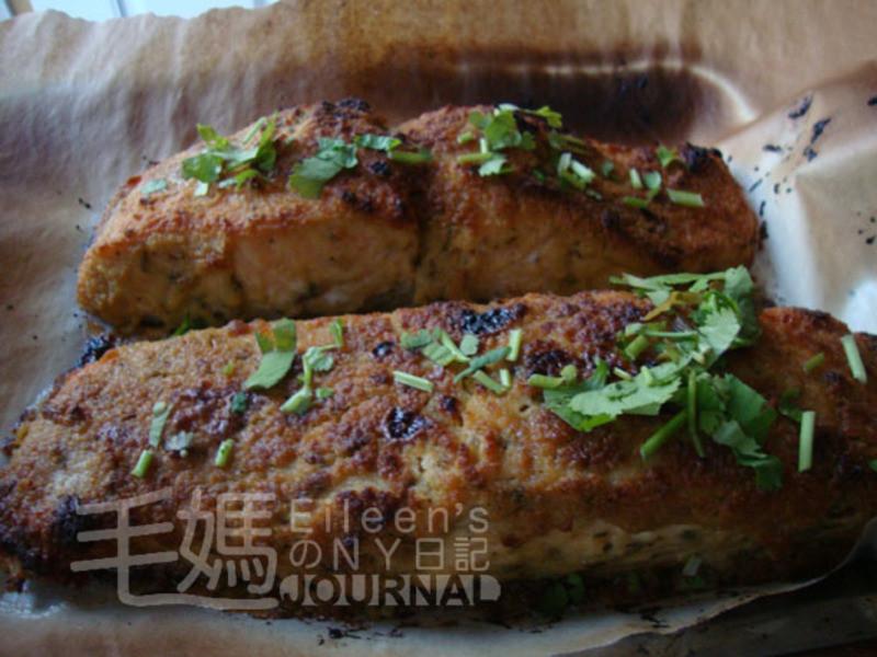 迷迭香鷹嘴豆泥烤鮭魚 Rosemary Hummus Crusted Salmon