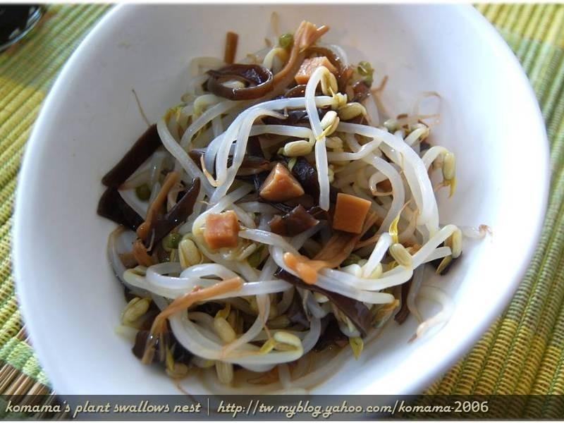 黑菇醬拌豆芽【柯媽媽の植物燕窩】