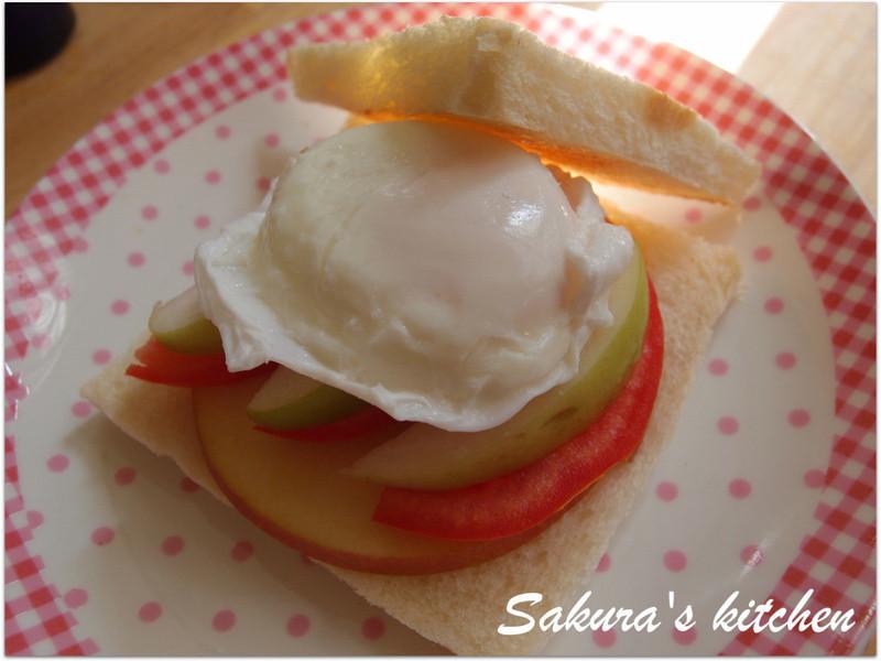 ♥我的手作料理♥清爽開胃水波蛋三明治