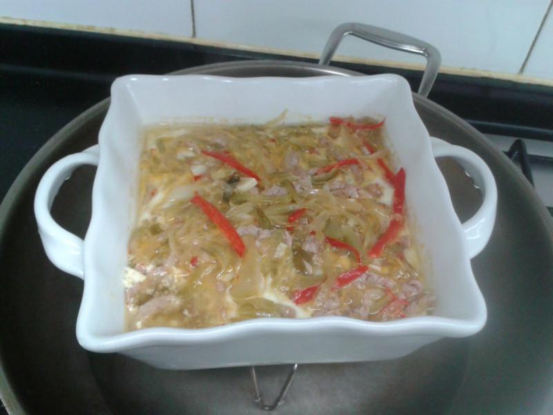 剩菜蒸豆腐