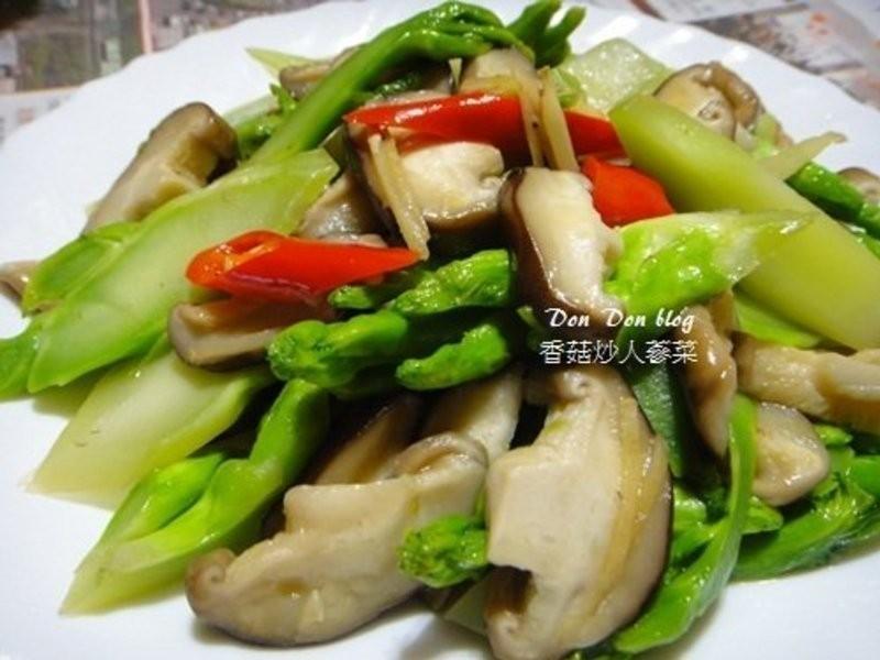 香菇炒人蔘菜