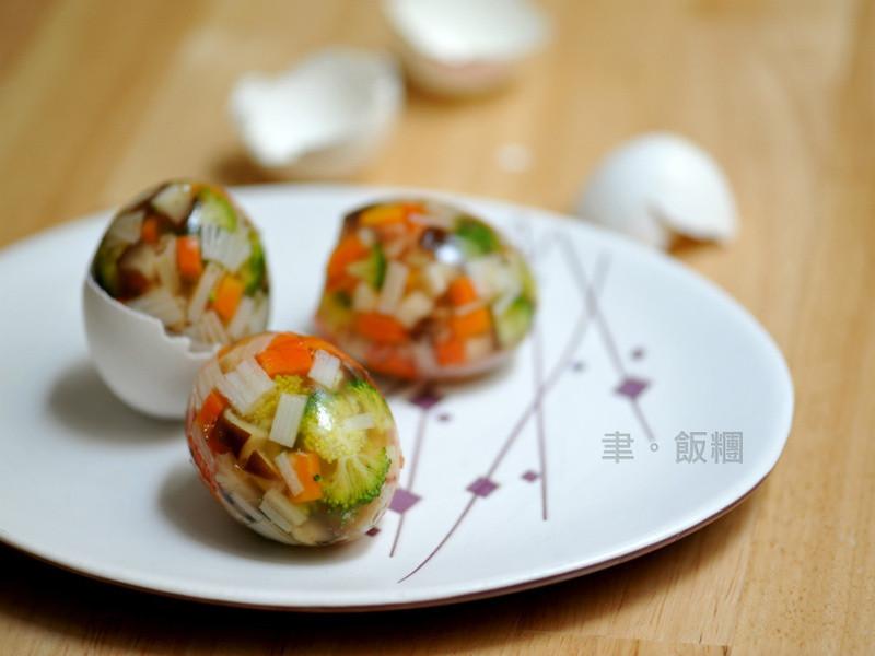 【原淬滴雞精】蟳味蔬菜瑪瑙蛋