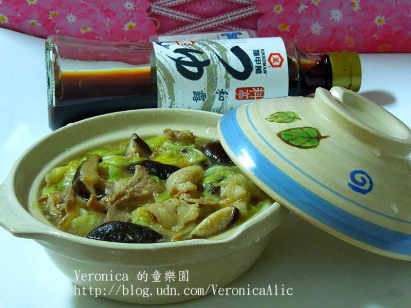 【龜甲萬樂享醍醐味】香菇肉片燒白菜