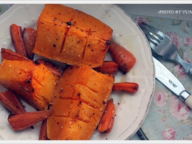 [Yun。在廚房]春日暖陽般的烤南瓜