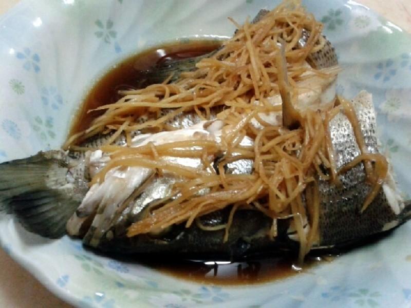 超簡易清蒸鱸魚♥