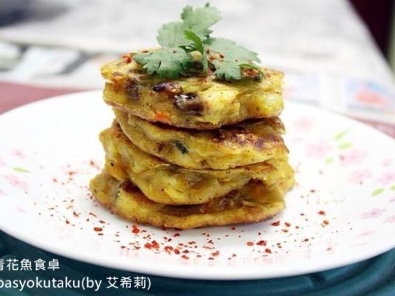 咖哩鯖魚煎餅