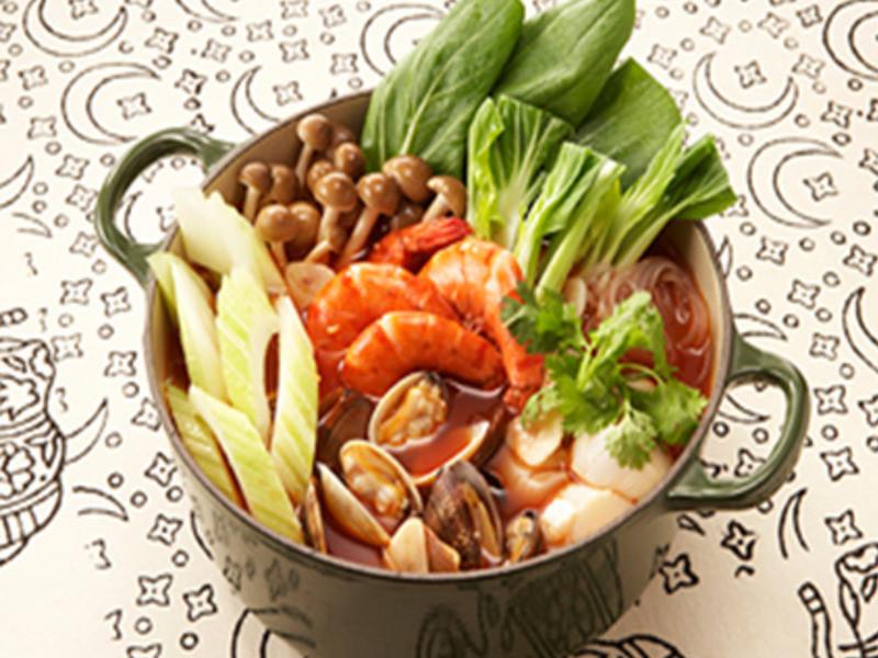 酸辣蝦湯風味鍋[蕃茄鍋]