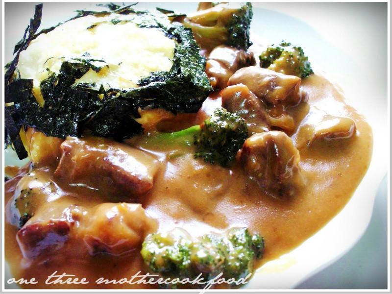 龜甲萬樂享醍醐味-豆漿燴牛肉