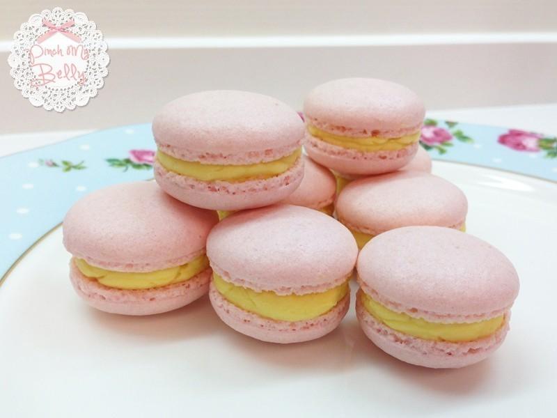 ♥PinchMyBelly♥ 百香果瑞士蛋白奶油糖霜