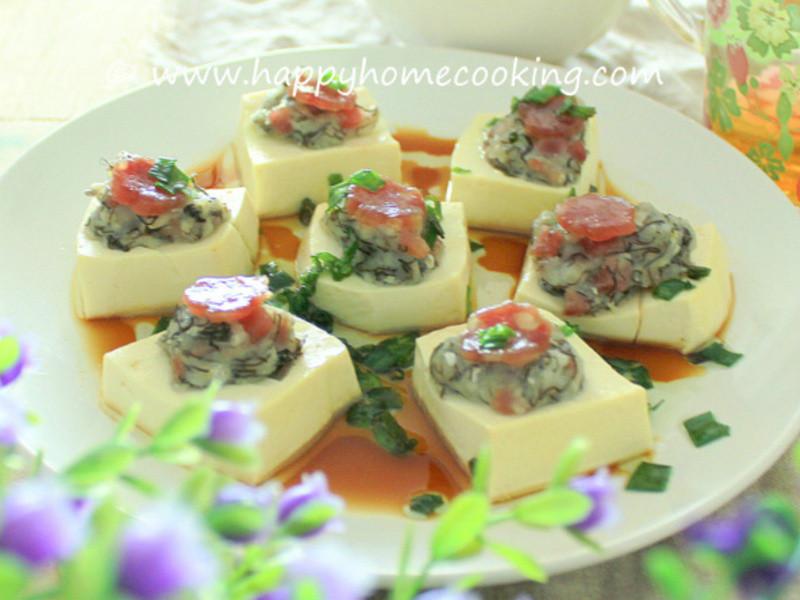 魚滑臘腸釀豆腐 ~ 魚滑Q爽,豆腐滑嫩,臘味鮮甜