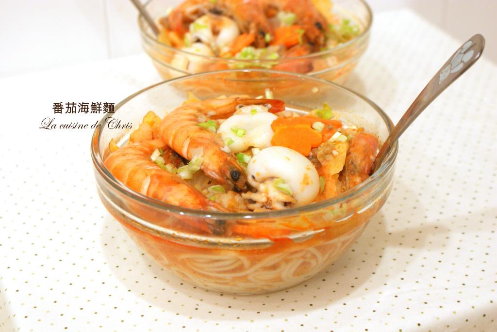 [麵食] 番茄海鮮麵