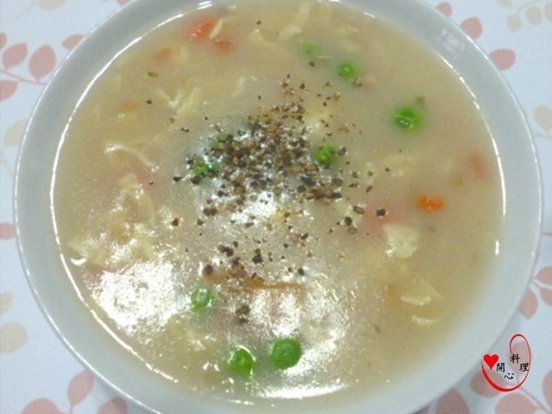 雞蓉蔬菜濃湯