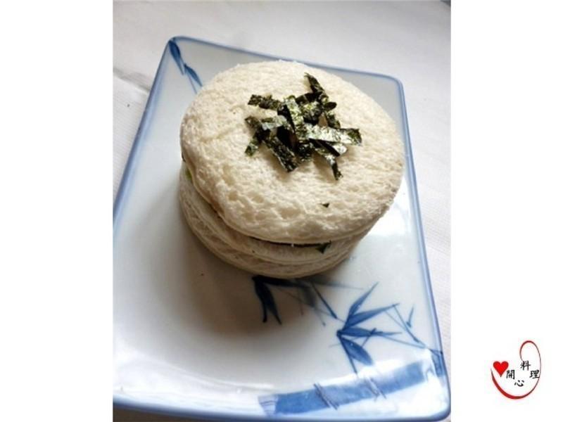 海苔圓形三明治