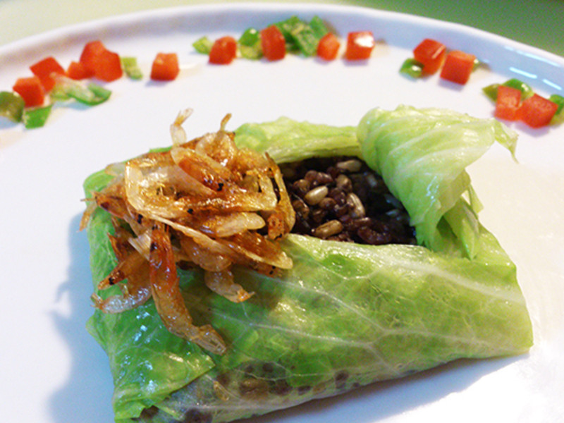 莎媽五心級料理~櫻花蝦紫米燕麥飯(得意的一天橄欖油)