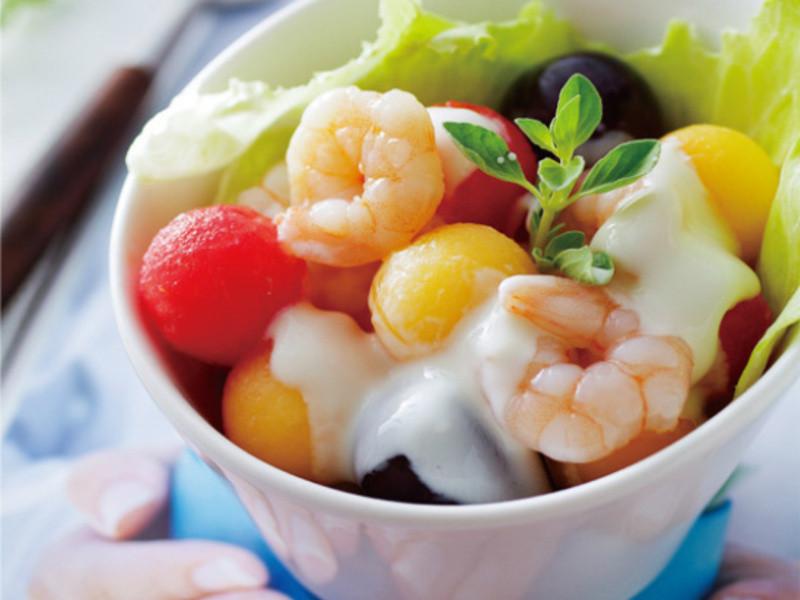 鮮蝦蔬果沙拉