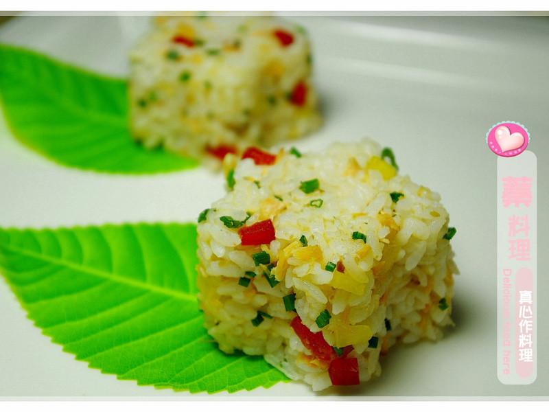 彩蔬鮭魚飯糰
