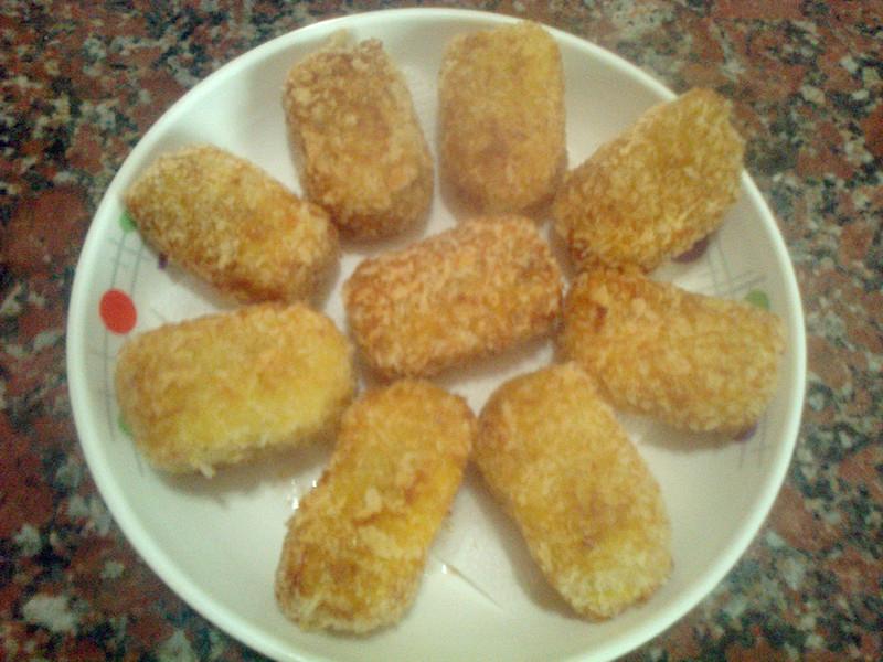 酥炸金黃薯年糕