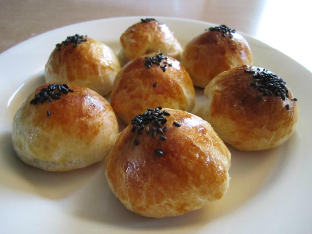 Q心芝麻湯圓麵包 (奶蛋素)