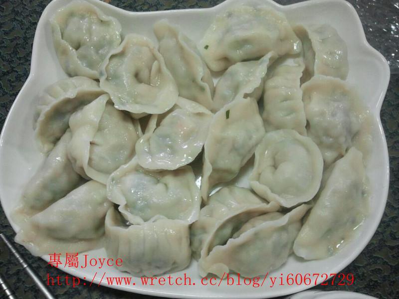 九層塔水餃(加玉米版)