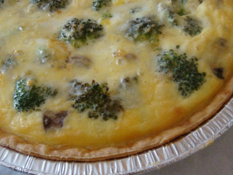 【法式鹹派】pulled pork,broccoli and mushoom quich烤豬肉絲,西蘭花和蘑菇鹹派