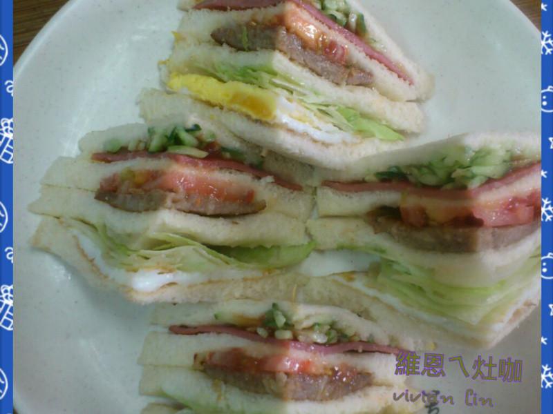 簡單好吃的三明治