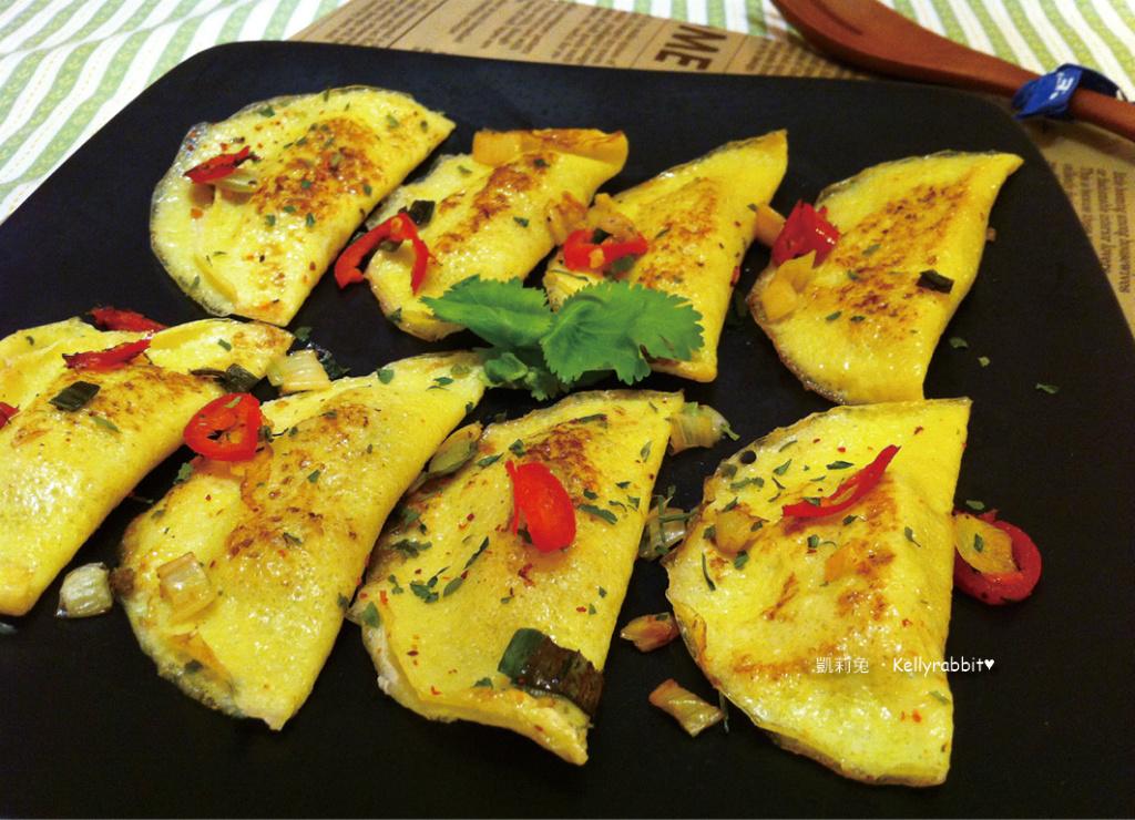 2步驟-香煎黃金蛋餃
