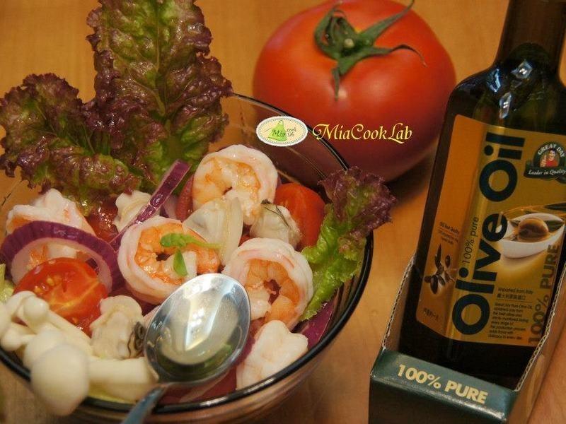 【得意的一天橄欖油】輕食海鮮油醋沙律