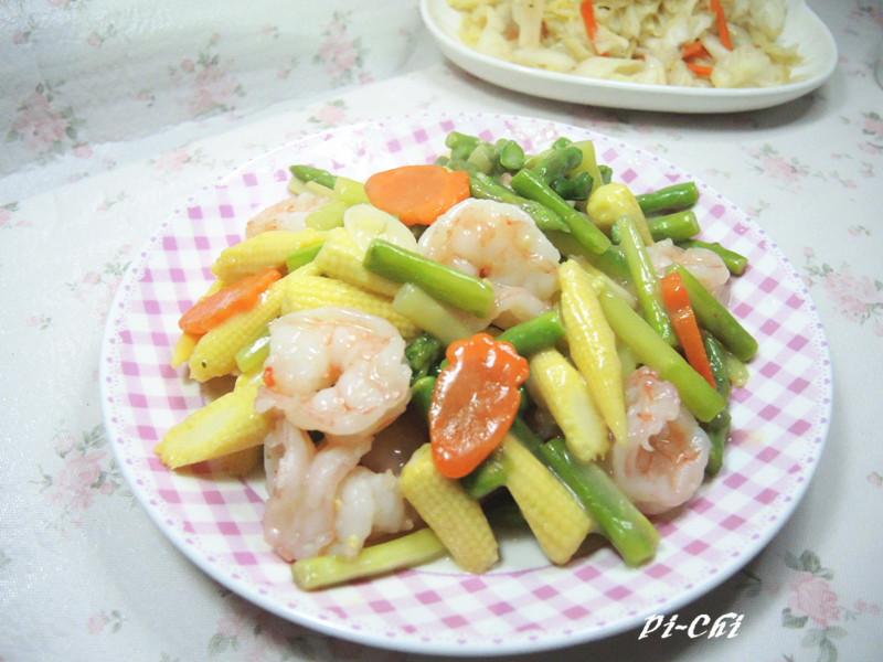 【得意的一天橄欖油】蘆筍鮮蝦玉米筍
