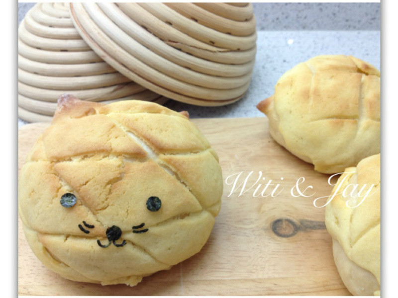 [Witi✿Kitchen](麵包機-麵包)喵喵波蘿包