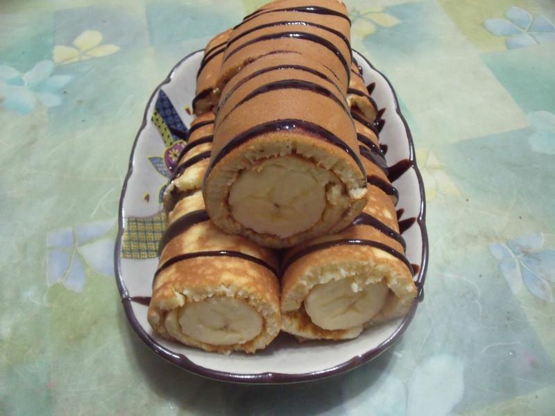 巧克力香蕉捲