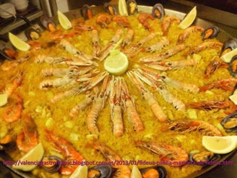FIDEUA VALENCIANA,麵條和海鮮的西班牙傳統配方