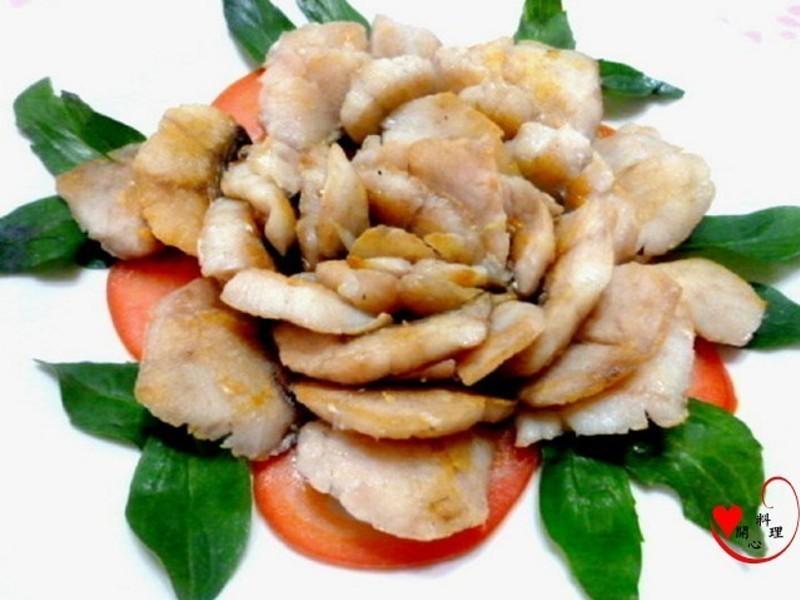[得意的一天橄欖油]乾煎牡丹魚片
