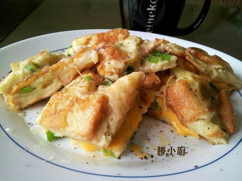 【得意的一天純橄欖油】起司土司蛋餅
