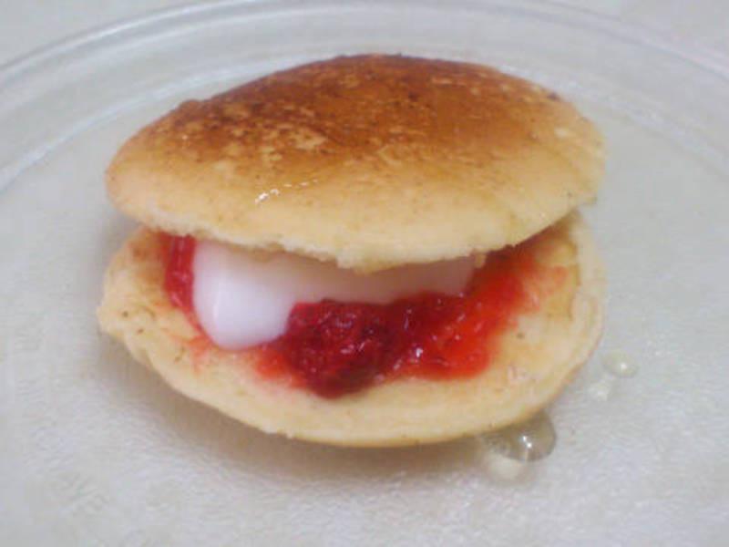 草莓奶酪鬆餅--快速版