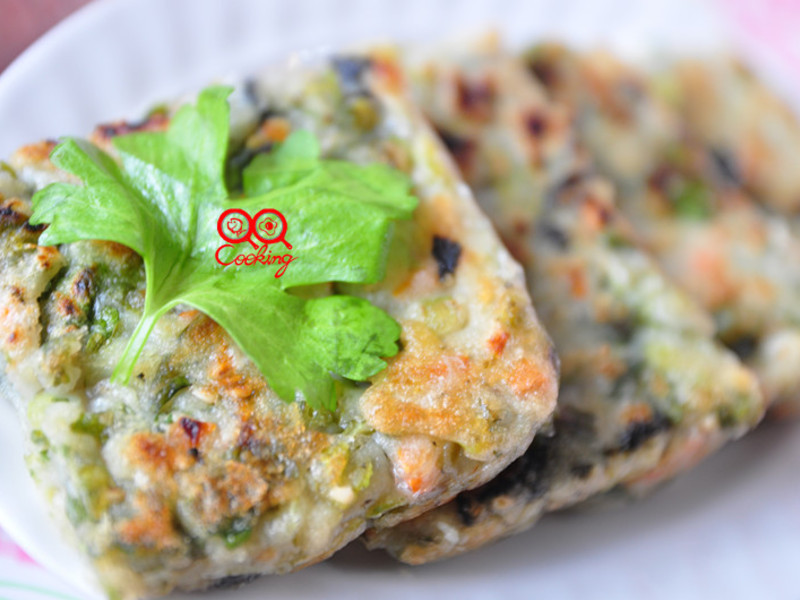 【得意的一天橄欖油】海苔芹菜葉煎餅