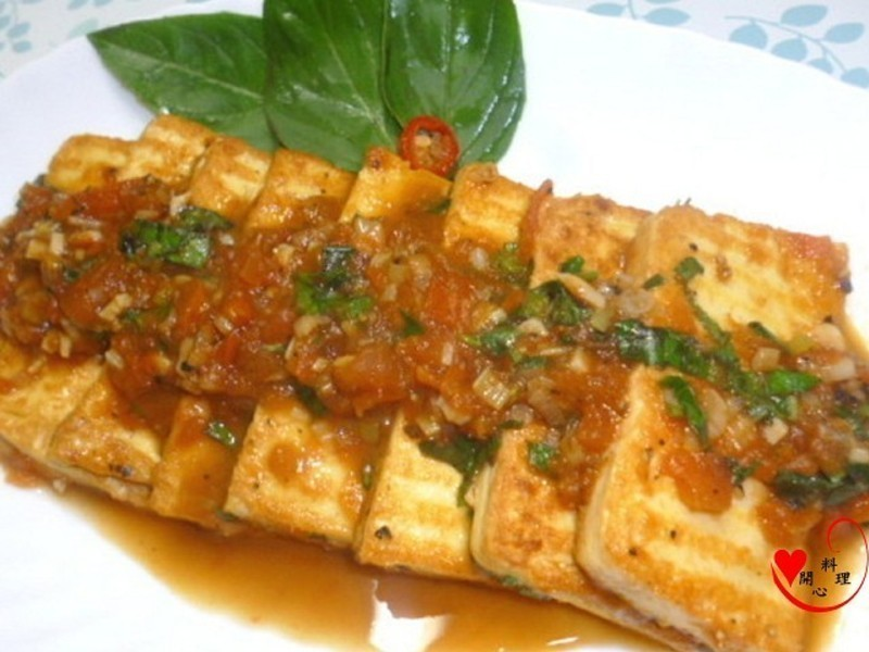 蕃茄黑椒豆腐