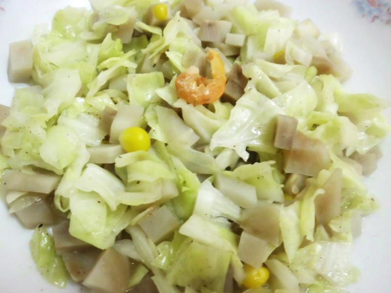 龜甲萬享醍醐味-高麗菜炒馬鈴薯