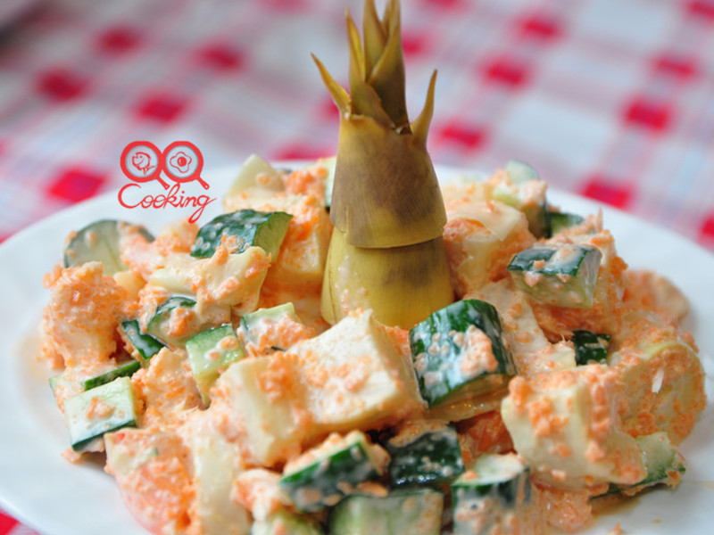 【我與大同電鍋的美味】鮮蝦嫩筍沙拉